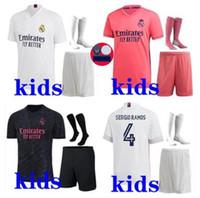 Çocuklar 2020 2021 Gerçek Madrid Futbol Forması Futbol Takımları 2020-21 Camiseta De Futbol Tehlike Benzema ISCO Modric Çocuk Futbol Takma Kitleri