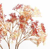 نبات تقليد لينة اللثة فرع لؤلؤة الفاكهة الديكور المنزل الحلي زهرة 66 سنتيمتر الأبيض الأخضر الأحمر