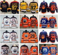 Edmonton Oilmers Connor McDavid Jersey 97 Üniversite Su Samçları Premier Ohl Hokey 29 Leon DraIsaitl 93 Ryan Nugent-Hopkins Wayne Gretzky Man Dikiş