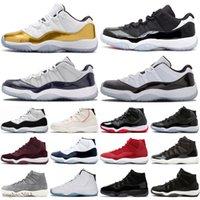 Jubilee 25th Yıldönümü Jumpman 11 Erkek Basketbol Ayakkabıları 72-10 Bred Düşük Concord UNC 11 S Kapağı ve Kıyafeti Erkek Kadın Eğitmenler Spor Sneakers