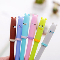 4 Pcs lot Gel pen Neutral pen Cute Bear Black lnk pens Writt...