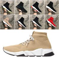 2021 جورب الأحذية الرياضية المدرب إمرأة أحذية رجالي الثلاثي أسود أبيض أحمر أحذية رياضية الجوارب الأحذية منصة المدربين