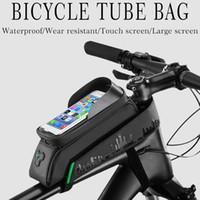 방수 자전거 가방 프레임 전면 탑 튜브 사이클링 가방 반사 6 전화 케이스 터치 스크린 가방 MTB 자전거 액세서리