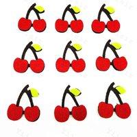 Мультфильм вишня аппликации палка на войлочные колодки нетканые ткани фрукты цветочные площадки скрапбукинг декорки одежды аксессуары