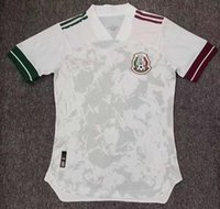 Player-Version 2020 2021 Mexiko Fußball-Jersey National New Away White 20 21Black Chicharito Lozano Guardado Carlos Vela Raul Football Hemden