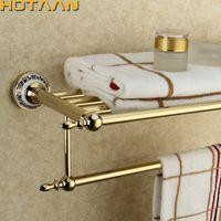 Asciugamani in acciaio inox a parete in acciaio inox Asciugamani da bagno Asciugamani Attivo Asciugamani Portasciugamani Double Towel Shelf Accessori da bagno T200916