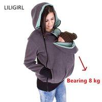 Liligirl Baby Maternity Sudadera Cusual Sudadera Nuevas Sudaderas con capucha de mujeres embarazadas Espesar de lana Carrier de maternidad Chaquetas Abrigo 201022