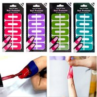 Klistermärken Dekaler 50 kort Plastskal Av Tape Palisade Nail Protector Fast Clean Art Painting Polish UV Gel Stämpling Plate Manicure Tool