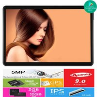 Vertrieb Android 9.0 Pie OS Google Play 10 Zoll Tablet 3G Anruf 32 GB ROM Dual SIM-Karten WIFI A-GPS IPS 2.5D GLAS-Tabletten PC1