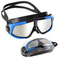 Profissional nadação de mergulho óculos de óculos de mulheres homens ajustáveis anti-nevoeiro Vista de névoa natação óculos máscara de mergulho para adultos