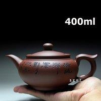 Zisha Yixing Zisha Tetera Tetera Tetera 400ml Hecho a mano Kung Fu Tea Set Teteras Cerámica Cerámica Cerámica Cerámica Tetera Regalo Safe Packaging T200227