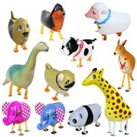 Yürüyüş Pet Hayvan Helyum Alüminyum Folyo Balon Otomatik Sızdırmazlık Çocuklar Balon Oyuncaklar Hediye Noel Düğün Doğum Günü Partisi Malzemeleri Için LX4076