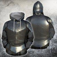 Ujiw 3d partout des chevaliers imprimés Armor Templar Tops Flag Streetwear Sweat à manches longues Pull à manches longues personnalisées Hoode Drop shipping Y200519