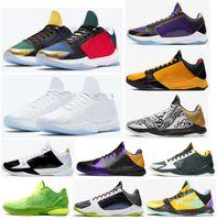 Yeni Mamba Yakınlaştırma 5 Protro Ya Lakers Bruce Lee Büyük Sahne Kaos Prelude Metalik Altın Yüzükler Erkekler Basketbol Ayakkabı Spor Sneakers