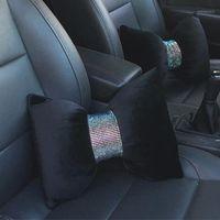 Bling Diamond Crystal Bowknot Car Seat Seat Sul Cuscino Strass Forniture Auto Collo Poggiatesta Supporto Accessori per auto Interni per le donne1