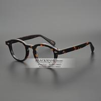 جاك جاد أعلى جودة خلات الإطار جوني ديب ديب ليمتيش نمط النظارات الإطار خمر جولة العلامة التجارية تصميم النظارات النظارات البصرية الإطار