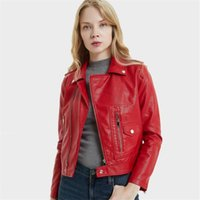 High Quality Women Leather Jacket Autumn Winter Women Coat S...