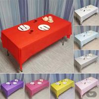 Одноразовый стол настольный полихроматический пластиковый десерт водонепроницаемый твердый цвет прямоугольная скатерть, аксессуары для рождения горячая распродажа 1 8fc k2