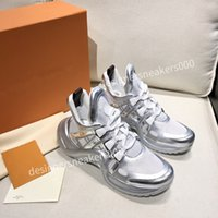 Louis Vuitton LV Üst Mans Paris Rahat Ayakkabılar Eğitmenler Baba Ayakkabı Sneaker Siyah Boy Mens Bayan Beyaz En İyi Kalite Koşucu Chaussures LH190216