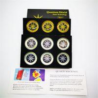 Schermo Quantum Anti Autoadesivi anti radiazione Energia Anti-elettromagnetica Telefono cellulare Anti Anti Anti Radiation Gadget 6pcs Pack Silver e Gold Colors