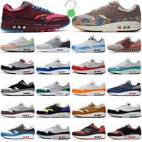 max 1 87 احذية الجري N7 في الهواء الطلق للرجال والنساء المدربين الأزرق حمض الفراغ غسل أمستردام دائم الخضرة هالة موضة الرجال النساء أحذية رياضية رياضية