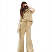 HLIMICYUM CASHMERE Женский свитер костюм и наборы случайные вязаные свитеры вспышки брюки 2 шт. Женские спортивные костюмы Y1123
