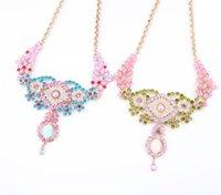 Mode femme bijoux romantique collier mignon pour filles mariage élégant cristal tourbillonnant collier accessoires femme