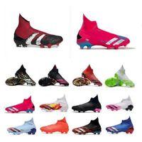 صندوق مزدوج أحذية كرة القدم أحذية كرة القدم حذاء التنين المتفرج المفترس 20+ FG بورجوندي الجنس البشري Pharrell Williams Pogbas Uniforia Pack Locality