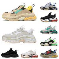 Balenciaga triple s   Hohe Qualität 17FW Dreifacher Sneakers für Männer Frauen Schwarz Weiß Beiläufige Schuhe Balenciaca Tennis Retro Erhöhung Luxusschuh