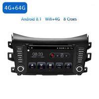 """자동차 멀티미디어 플레이어 1 DIN Android 8.1 자동차 DVD Navara 2017-2018 8 """"4G / 32G / 64GTouch 화면 라디오 GPS1"""