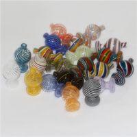 25 мм OD цветное стекло пузырьки CARB CAPS плоский верхний карб CAP подходит для 25 мм кварц Banger Nails X XL Banger стеклянная водяная труба
