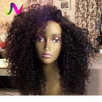 180Density Full Side Part Afro Black Perücke Kinky Curly Synthetic Lace Front Perücke mit Babyhaar Hitzebeständige Haare für African American Perücke