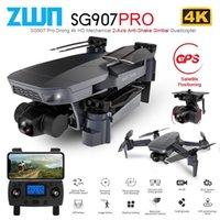 ZWN SG907 PRO / SG901 GPS Дрон с 2 осью Гимбаль камеры 4K HD 5G WiFi широкоугольный FPV Оптический поток RC Quadcopter Dron VS SG906 210202