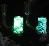 Bucker de cuarzo Bucket para fumar tubos de fumar con resplandor en la herramienta de dab de arenas termocrómicas luminosas oscuras para narañanas de agua de agua Bong