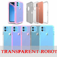 Offre de pare-chocs à l'armure pour iPhone 12 11 Pro Max XR XS X 6 7 8 Plus Protection transparente Heavy Duty PC TPU TPU Coque