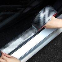 1 M / Araba Vücut Tampon Çıkartmalar 5D Karbon Fiber Kauçuk Styling Kapı Eşiği Koruyucu Ürünler Araba Dekorasyon Aksesuarları Oto Dış Parçalar