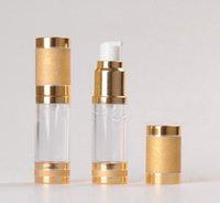 50 pcs 50ml rodada garrafa sem ar com bomba de tratamento pp bomba sabão bomba líquido loção essencial óleo cosmético recipiente de recipiente vazio