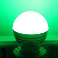 무료 배달 E27 3W RGB LED 디 밍이 가능한 전구 85-265V 전구 사무실 새 및 고품질 전구