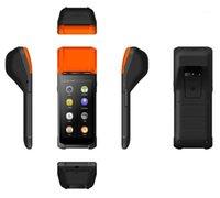 PDA 안드로이드 와이파이 터미널 1D 바코드 스캐너 리더 프린터 58mm 열 영수증 블루투스 견고한 핸드 헬드 터미널 시스템 1