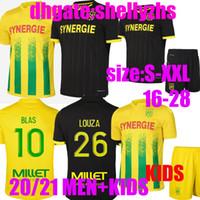 20 21 FC Nantes Soccer Jersey Home Away Maillot de Foot 2020 2021 Simon Louza Toure BLAS Coco Colibaly взрослых мужчин Детские футбольные рубашки