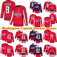 Washington Capitals Jerseys 8 Alex Ovechkin 77 TJ Oshie 43 Tom Wilson 74 Carlson 92 Evgeny Kuznetsov 19 Nicklas Backstrom Hockey Koszulki