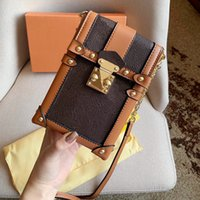 Cadena de impresión clásica bolsos bolsos de caja de caja vertical bolsa de hombro de un solo hombro bolsa de hombro ajustable Paquete de teléfono móvil