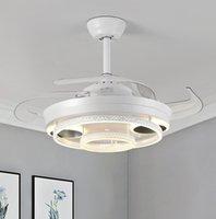 Nordic Bedroom Decor Salone LED Soffitto Ventilatore da soffitto Lampada da pranzo Sala da pranzo Ventilatori a soffitto con luci Lampade a controllo remoto per soggiorno