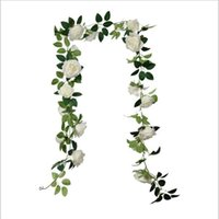 Flores decorativas Grinaldas planta artificial simulada rosa videira faux folhagem falsa casa jardim decoração acessórios de decoração de casamento deco