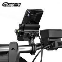 휴대 전화 마운트 홀더 Gzerma 방수 오토바이 홀더 USB 충전기 오토바이 산악 자전거 핸들 바 스탠드 마운트 Bracket1