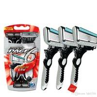 1 шт. / Мужская бритва для бритья, электрический бритвой шаг 6 слоев прямой бритвой борода