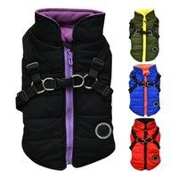 Köpek Giyim Pet Köpekler Baskılı Soğuk Hava 2 1 Mont Yelek Koşum Yavru Kıyafet Kış Sıcak Konfeksiyon Ceket