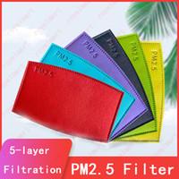 KN95 FFP2 Tek Kullanımlık Maske Filtresi 7 Renkler PM2.5 Filtre 5 katlı filtreleme renk Tek kullanımlık aktif karbon tozu duman geçirmez filtre