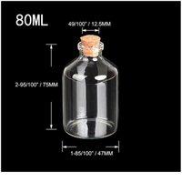 47*75*12.5mm 80ml Transparent Glass Bottles Cork Empty Cute Vials Jars Creative Bottles 24pcs Free jllKJZ