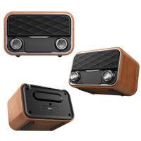 Retro Radio Bookshelf Bluetooth Speaker Outdoor Portable Subwoofer Dual Speakers Subwoofers FM Radios TF Card AUX U Disk Music